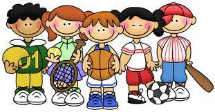 Image result for children doing physical fitness  clip art