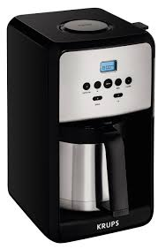 get ations krups et351 savoy programmable thermal stainless steel filter coffee maker machine with bold and 1