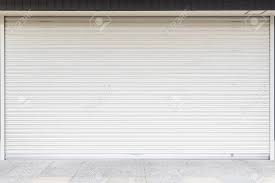 white garage door texture. Stock Photo - White Metal Roller Door Shutter Background And Texture Garage