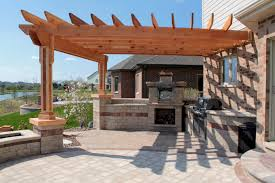 Patio Kitchen Small Outdoor Kitchen Gazebo Pergola Ideas Built In Bbq Grill