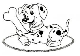 Small Picture Dog Running With Bone Coloring Page Animal pages of
