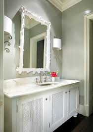 mirror paint for wallsWhite And Grey Bathroom Design Ideas