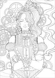 Guido is luigi's assistant and his best friend. Steampunk Woman With Coffee Version 2 Vintage Adult Coloring Pages