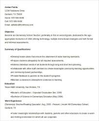 Gallery Of Free Teacher Resume 40 Free Word Pdf Documents Download