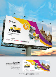 Design A Billboard Online Free Freepiker Travel Tours Billboard With With Yellow And