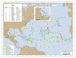 Hurricane Tracking Chart 2013 Atlantic Hurricane Season
