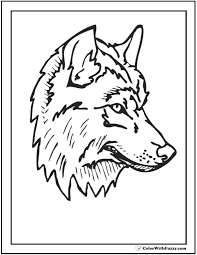 Wolf Coloring Pages To Print At Getdrawingscom Free For Personal