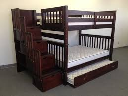 bunk bed with trundle and stairs. Brilliant Bunk NOAHS BED  Full Over Bunk Bed With Storage Stairs  Twin Trundle  The Full Beds Separate To Make Two Good For When Baby 3 Finally  With Trundle And Stairs