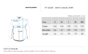 Jones Wear Size Chart Jack Jones Mens Cotton Casual Shirt Peach
