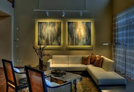 contemporary track lighting living room contemporary. Modern Industrial Track Lighting Office Hall With Contemporary Living Room M