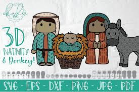 Christmas, christmastime, cone, deco, fun, holiday, jesus svg vector icon. 3d Nativity Svg Layered Mary Joseph Baby Jesus Dxf Eps 883338 Paper Cutting Design Bundles
