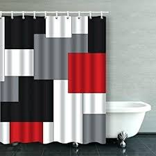 black and white striped shower curtain red and white striped shower curtain black and white horizontal