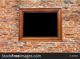 photo frame on old brick wall free