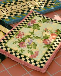 morning glory entrance doormat quick look mackenzie childs