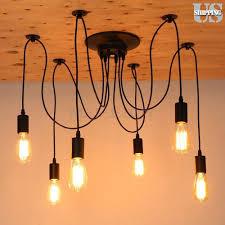 pendant lighting edison. 6 Head Vintage Industrial Ceiling Lamp Edison Light Chandelier Pendant Lighting T