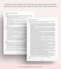 essay guide and planner printable pack school college essay guide and planner printable pack school college university student essay writing template instant a4 and letter
