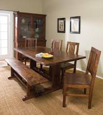 dining room tables with benches homesfeed brilliant dining table bench seat