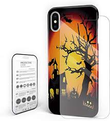 <b>Halloween Cartoon</b> Castle Dead Tree Bat Phone <b>Case</b> Slim Hard ...
