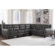 leather sectional living room furniture. Simone 4-piece Top Grain Leather Sectional Living Room Furniture I