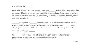 Formato Referencia Personal Modelo De Referencia Personal Para Trabajo Modelo Curriculum