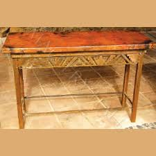 mexican copper console table
