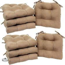 Lawn Chair Cushion Outdoor Indoor Kitchen Patio Ties Round Corners