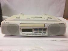 sony icf cd513 under cabinet counter clock radio am fm cd player