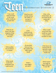 teen conversation starters conversation starters for teens  teen conversation starters conversation starters for teens 2 family minute so true starters conversation and teen