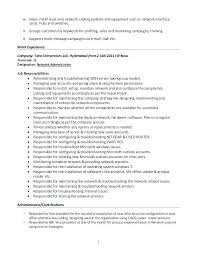 System Administrator Resume Example Sample System Administrator