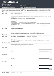 Software Engineer Resume Guide And Sample Examples Engineering