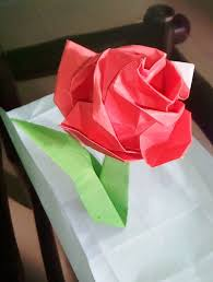How To Make Big Lotus Flower From Paper How To Fold A Paper Rose With Pictures Wikihow