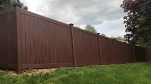 Image Jacksonville Fl Wood Grain Vinyl Fence Idaho Fence Supply Wood Grain Vinyl Fence Westchester Fence Company 9143378700