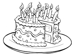 Birthday Cake Color Pages Kiddo Shelter
