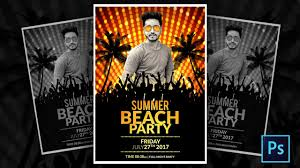 How To Make A Summer Party Flyer In Photoshop Youtube