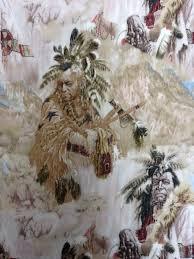 Native American Warriors Horses Headdresses Tribal Western Cotton ... & Native American Warriors Horses Headdresses Tribal Western Cotton Fabric  Quilting Fabric T74 Adamdwight.com