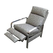 white leather recliner chair with black