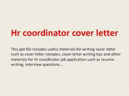 Hr Coordinator Cover Letter