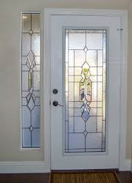 glass door insert into a exterior door