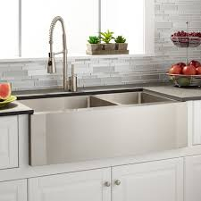 36 ackerman 60 40 offset double bowl stainless steel farmhouse sink intended for large bathroom sinks