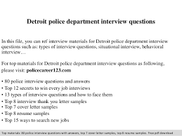 Interview Letters Samples Detroit Police Department Interview Questions