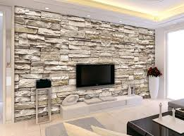 3d effect brick stone wallpaper for