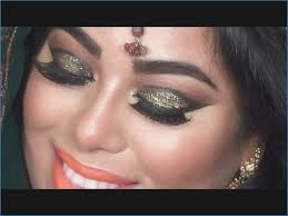indian bridal makeup tutorial green and gold glitter eyes indian bridal eye makeup pictures