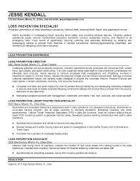 ... Loss Prevention Resume 8 Admitting ...