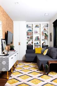 small bedroom is multifunctional as tv