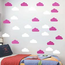 56pcs lovely cloud wall stickers wall