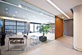 glass partitions and wood partitions