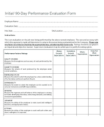 Performance Review Form Template Free Employee Appraisal