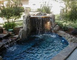 inground pools with waterfalls and hot tubs. Hot Tubs Built In Waterfall Inground Pools With Waterfalls And X