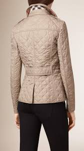 Lyst - Burberry Diamond Quilted Jacket in Natural & Gallery. Women's Quilted Jackets Adamdwight.com
