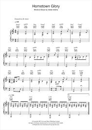 adele sheet music hometown glory piano sheet music by adele piano voice guitar